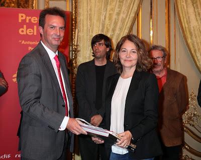 """Mercedes de Vega, Finalista y Accésit en los Premios del Tren """"Antonio Machado"""" 2013"""
