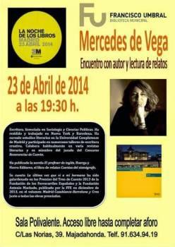 Lectura de cuentos de Mercedes de Vega en La Noche de los Libros